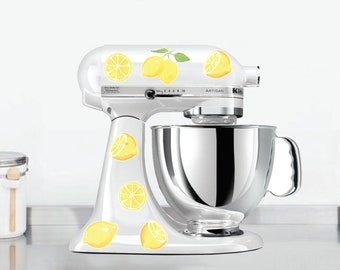 Watercolor Lemon Kitchen Mixer Decals, Watercolor Fruit decals, Lemon Kitchen Decor, Fruit Mixer Decals