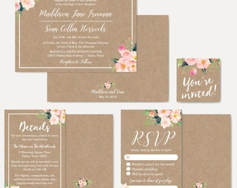 Wedding Invitations With RSVP Packages, Wedding Invitations Cheap Kits, Wedding  Invitation Templates Wording, Affordable Wedding Invitations