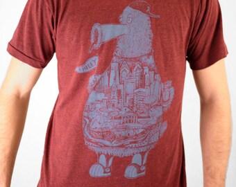 FREE SHIPPING - Philadelphia Fanatic  -- Paul Carpenter Art -- Unisex Philly Artist Print Tee Shirt