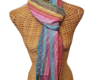 Handwoven formal/casual scarf 100% silk, jazzy