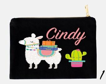 Llama Pencil Case, Personalized Pouch, Makeup Bag, Cosmetic Pouch, Custom Pencil Case, School Pouch, Kids Pencil Pouch, Llama Pouch