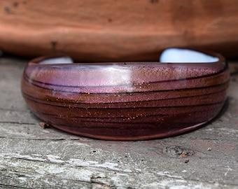 Purple Glass Cuff