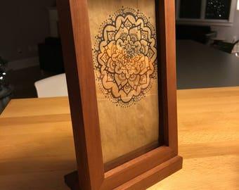Custom Art framed in Mahogany