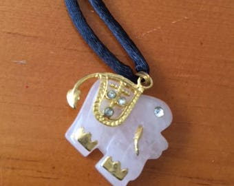 Elephant Pink Smithsonite Necklace 24 inch