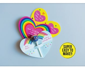 Rainbow butterfly origami party favors lollipop butterfly origami party gifts
