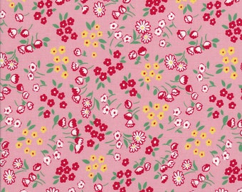 Old New 30s - Lecien Fabric - Reproduction Fabric - Pink Fabric - Red Fabric