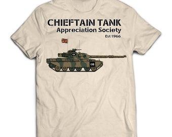 Chieftain Army Tank Appreciation society printed t-shirt