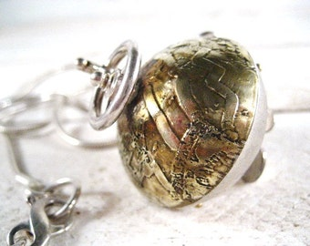 Curious Nautical Hand Cranked Sphere Necklace