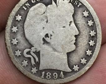 1894-O Barber Quarter, Liberty Head Quarter M367