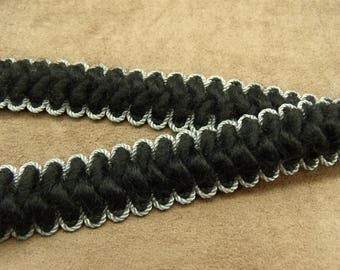 FANCY wool Ribbon - 2.5 cm - black & white