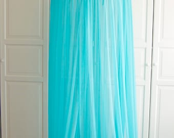 READY TO SHIP Turquoise Baldachin -  Tulle Canopy, Crib  Bed Mesh Canopy, Nursery canopy, Bed canopy, Play room canopy, Hanging Canopy