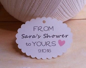 25 From my Shower to Yours Favor Tags, Bridal Shower Favor Tags, Baby Shower Favor Tags, Bubble Bath Favor Tags, Bath Shower Favor Tags