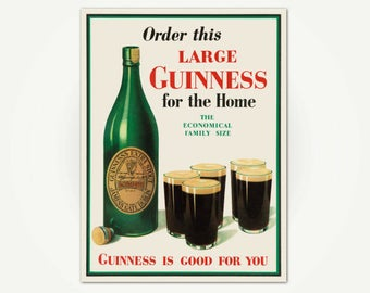 Guinness Stout Advertising Poster Print - Large Guinness Poster Art - Guinness Is Good For You