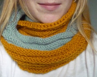 Ready to Ship: Two-Tone Infinity Scarf