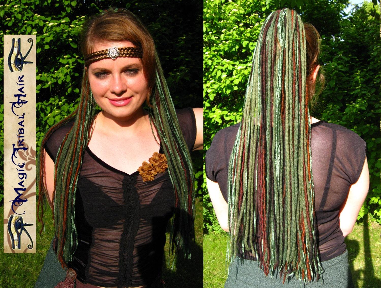 Forest Elf Dread Falls Renfair Fantasy Yarn Hair Falls 112