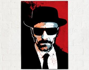 Breaking Bad - Heisenberg - Fan Art illustration, Breaking Bad Poster, Breaking Bad Art, Walter White, Breaking Bad Print, Pop Art