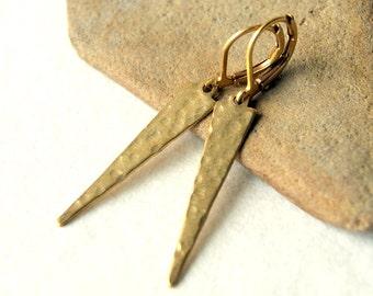 Brass Dagger Earrings
