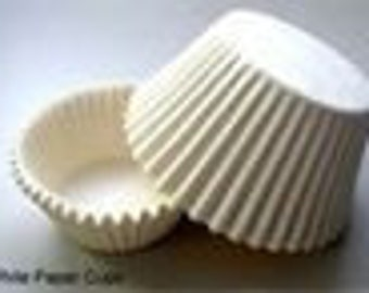 100 ct White Greaseproof Cupcake Liners size Mini 1-1/2x1