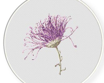 MORE for FREE - Purple Flower - Counted Cross stitch pattern PDF - Instant Download - Cross Stitch Pattern - Flowers-Love- Needlepoint #1422