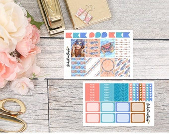 Boho Mini Kit Planner Stickers - For Erin Condren Life Planner or Happy Planner