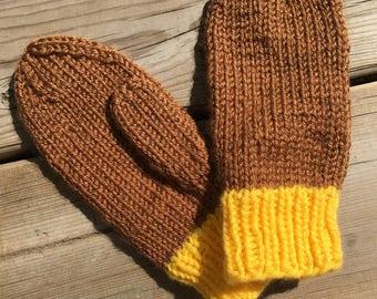 Child small, Warm Knit Mittens, Child's mittens