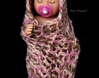 SALE - Chunky Scarf - Rose Petals