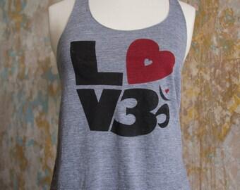 Yoga Love Tank - Love Om Heather Grey - Yoga Love Tank - Om Yoga Tank