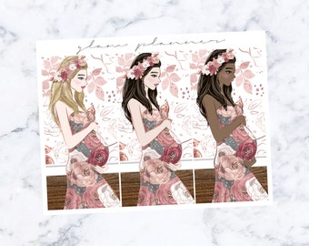PRE-SALE! Baby Girl Fashion Girls (Glam Planner Stickers for Erin Condren Life Planner)