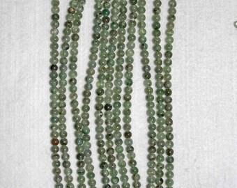 Kyanite, Green Kyanite, Kyanite Bead, Smooth Bead, Green Bead, Natural Stone, Semi Precious, Gemstone Bead, Full Strand, 5 mm, AdrianasBeads