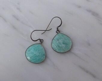 Blue Amazonite Earrings