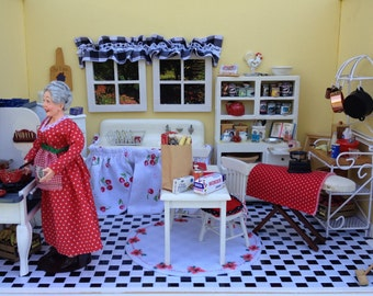 GRANDMA'S KITCHEN 1949 Miniature Diorama Roombox