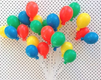 3 Primary Party Balloon Cupcake/Cake Toppers