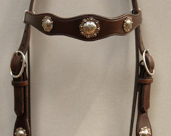 Berry Concho Headstall