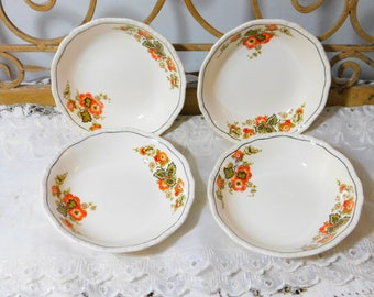 Homer Laughlin China Dessert Bowls set of 4 Newell  Shape, Mid Century 1950s to 1960s , Vintage China Bowls, Vintage China,  Table Ware,