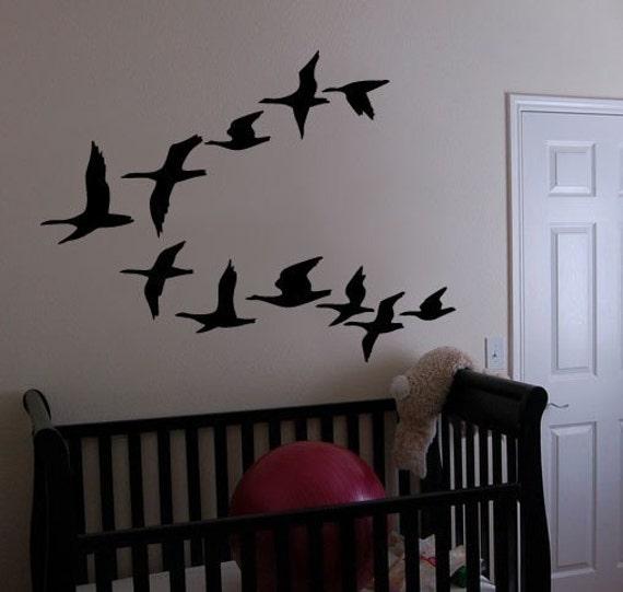 vinyl wall art decal sticker flying geese ducks birds item 162