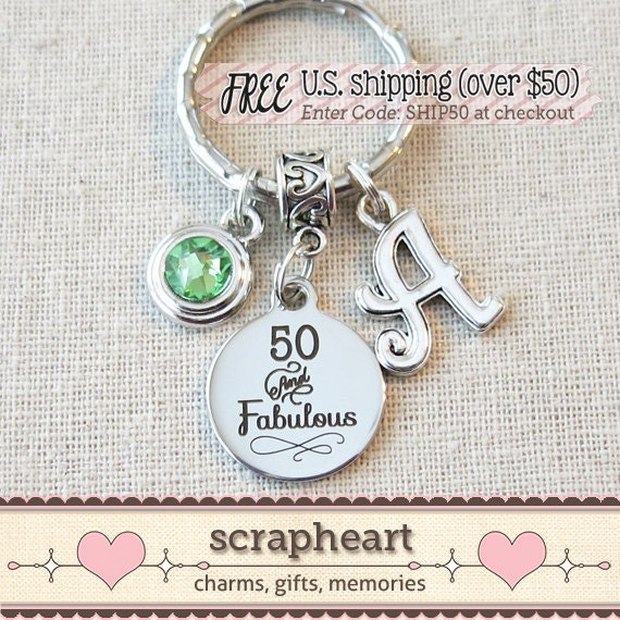 50th BIRTHDAY Gift For Her Milestone Birthday Gifts For