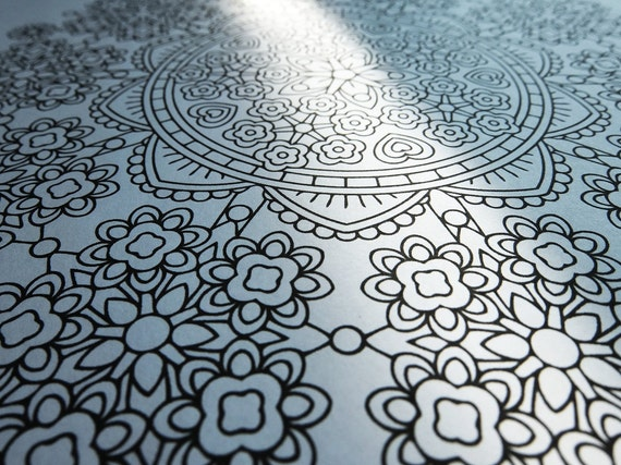 Mindfulness Coloring Pages Pdf : Mandala coloring page floret forest coloring page to print