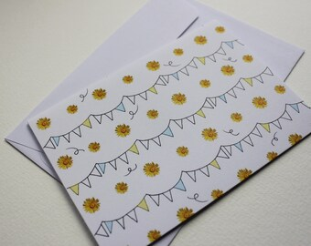 Dandelion Bunting Greeting Card