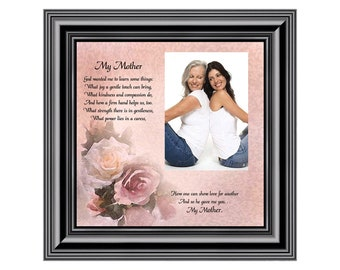 My Mother, Personalized Picture Frame, Gift from Daughter for Mother, 10X10 6767