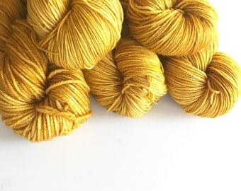 Citrine Hand Dyed Cashmere Fingering Weight Yarn for Knitting and Crochet