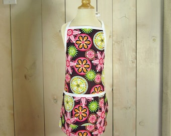Carnival Bloom Young Adult / Teen Apron - Reversible