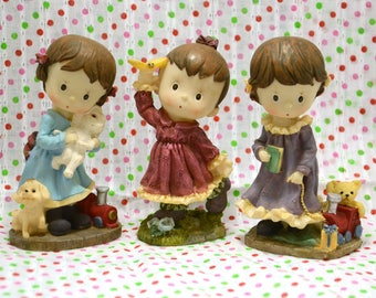 SALE - Vintage Ceramic Girl Figurines from Japan 80s