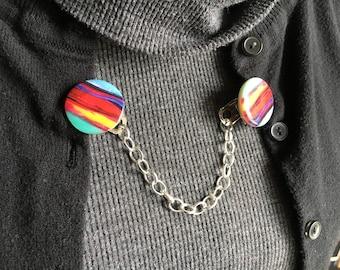 rainbow sweater clip