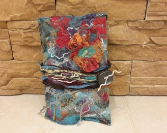 SOLD.Felted book cover crazy book accessory christmas gift