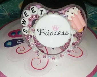 Sweet princess pacifier