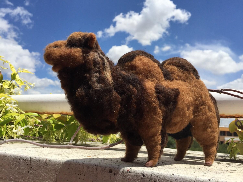 Camello lana figura belén figura navidad animal lana
