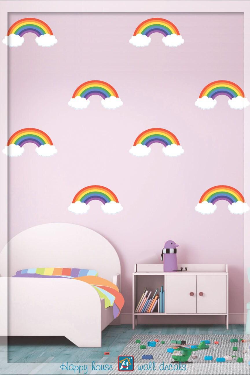 Rainbow pattern wall decal nursery wall decal rainbow wall zoom amipublicfo Images