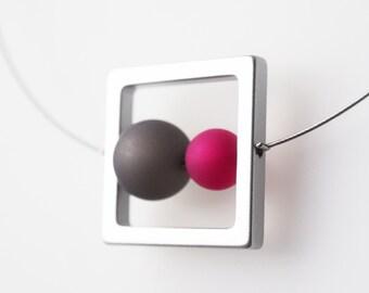 gray necklace pink polaris necklace gray