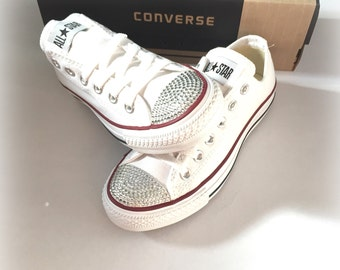 Rhinestone Converse Shoes, Women's Bling Converse Shoes, Bling Shoes, Bling Chuck Taylors