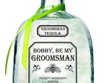 Groomsman Patron 750 or 375mL labels